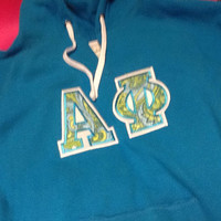Alpha Phi V-Neck Hoodie in Size Small