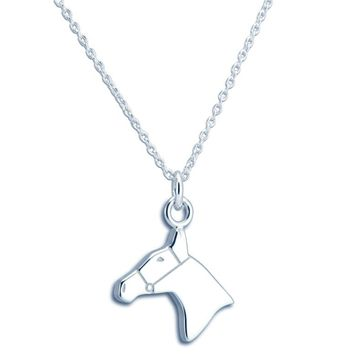 THURSTON STERLING SILVER HORSE NECKLACE