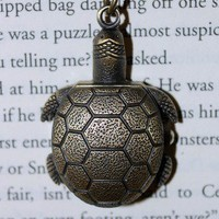 Turtle Shell Watch Necklace | Wicked Clothes