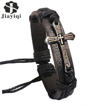 Cross Bracelets Charm Bracelet 100% Brand Genuine Leather