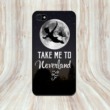 Take Me To Neverland, Peter Pan Quote, iPhone 5, 5s, iPhone 4, 4s and iPhone 5c case
