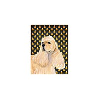 Caroline's Treasures Cocker Spaniel Candy Corn Halloween House Flag