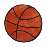 Fun Rugs Fun Shape High Pile Basketball Sports Kids Rug