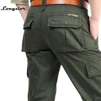 Joggers Pants 2017 Brand Mens Military Cargo Pants Multi-pockets Baggy Men Pants Casual Trousers Overalls Army Pants LP11