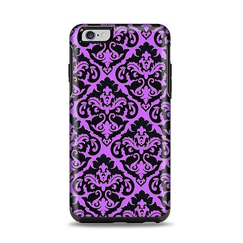 The Black & Purple Delicate Pattern Apple iPhone 6 Plus Otterbox Symmetry Case Skin Set