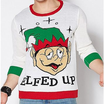 Elfed Up Ugly Christmas Sweater - Spencer's