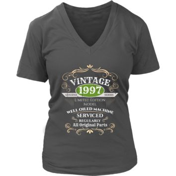 Women's Vintage 1997 21st Birthday V-Neck T-Shirt Gift