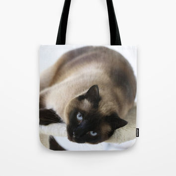 Hey You Tote Bag by Theresa Campbell D'August Art