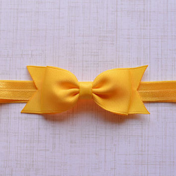 Yellow Bow Headband. Yellow Baby Headband. Yellow Baby Bow Headband. Baby Hair Accessories. Girls Hair Accessories. Yellow. Bow Headbands