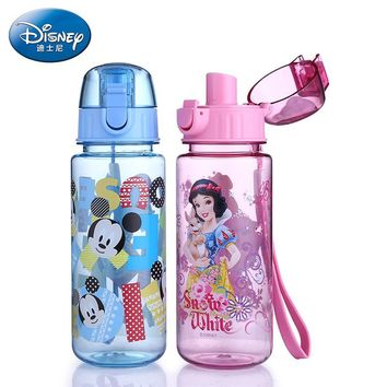 Disney Princess My Baby Water Bottle Mickey Mouse Drinking bottle for water with Rope child Tea Water Cup Sport Tumbler School