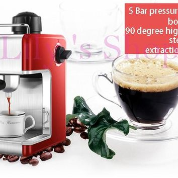 DMWD Electric Espresso coffee maker semi-automatic Italian coffee