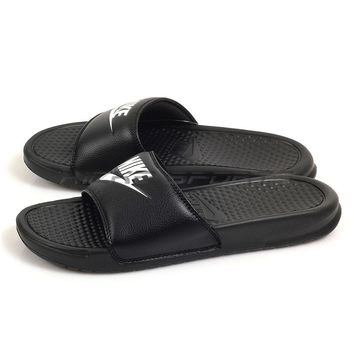 Nike Benassi JDI Slide Black/White Sports Classic Sandals Slippers 343880-090