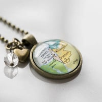 Map of Israel Necklace - Map Pendant Necklace - Travel Jewelry Jerusalem Tel Aviv Personalized Jewelry Holy Land Middle East Gift For Women