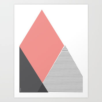 Mountain Scandinavian Art Art Print by Paola Arango