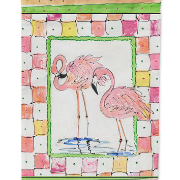 Flamingo  Flag Garden Size
