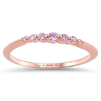 14K Rose Gold 1.4TCW Russian Lab Diamond Ring Pinky Ring