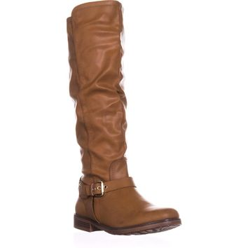 XOXO Mauricia Wide Calf Riding Boots, Tan, 11 US