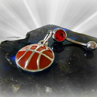 Basketball Belly Ring, Sport, Team,