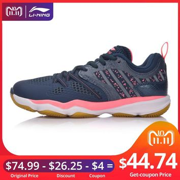 Li-Ning Women Ranger Daily Badminton Shoes Stability TPU Support Sneakers Skid-Resistance LiNing Sport Shoes AYTM074 XYY062