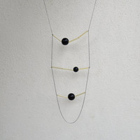 Geometric black necklace - MIRO