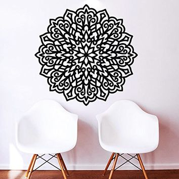 Mandala Wall Decal Vinyl Sticker Decals Lotus Flower Yoga Namaste Indian Ornament Moroccan Pattern Om Home Decor Bedroom Art Design Interior NS294