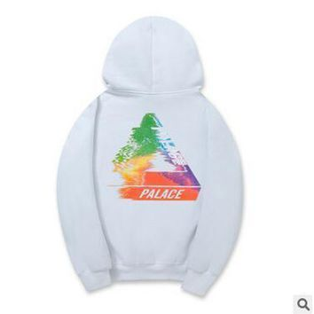 High Quality PALACE Hoodies Men's Popular Hippop Streetwear Fashion Colorful Trangle Printed Hoodies Students Casual Sweatshirts