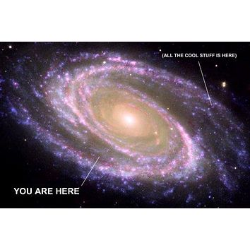 You Are Here Galaxy Photo Poster Cool Stuff Is Here 11 inch x 17 inch poster