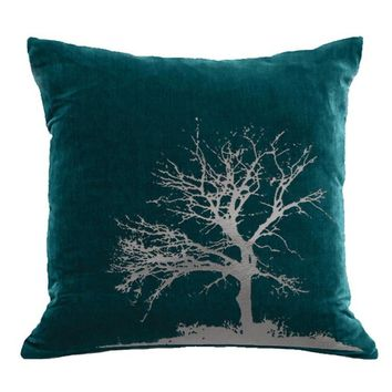Tree Velvet Accent Pillow