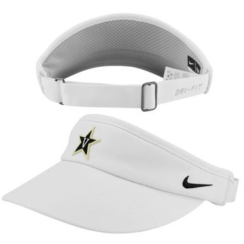 Vanderbilt Commodores Nike Sideline Dri-FIT Adjustable Performance Visor – White