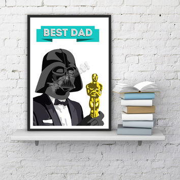 Darth Vader Best dad Print, Unique Funny Gift Idea, STAR WARS Poster, office wall art ,Gift from Bride, Dad Gift, star wars print gift dad