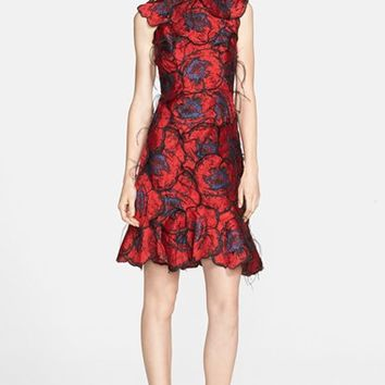 Women's Erdem Floral Patchwork Silk Dress,