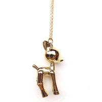 "* Brass Robot Fawn Necklace* 100% Brass* Chain measures 29.5"" in length* Pendant measures 2"" in height and 1"" in width"
