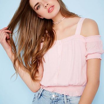 Delta Smocked Top at Guess
