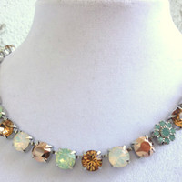 swarovksi choker-better than sabika-opals and topaz-flower-GREAT PRICE