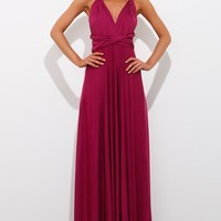 Drinking Vino Maxi Dress Plum