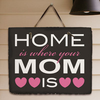 Home is Where Your Mom Is Slate Plaque