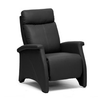 Sequim Black Modern Recliner Club Chair