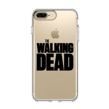 THE WALKING DEAD LOGO iPhone 4/4S 5/5S/SE 5C 6/6S 7 8 Plus X Clear Case