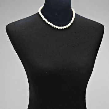"16.50"" faux pearl strand choker necklace"