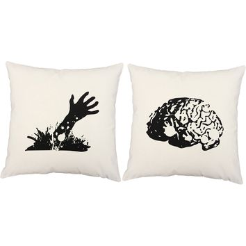 Zombie Snack Throw Pillows