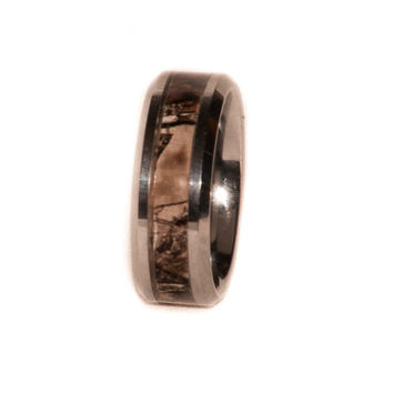 Camo On Silver Tungsten Ring