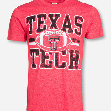 Texas Tech Dynamic Vintage Football Knockout on Vintage Red T-Shirt