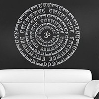 Wall Decals Mandala Yoga Namaste Om Ornament Indian Geometric Moroccan Pattern Decal Vinyl Sticker Home Art Bedroom Home Decor Room Ms341