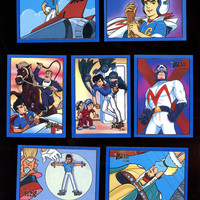SPEED RACER Vintage 1993 Prime Time GOLD (  special insert card) card Lot of 7 cards Great Condition Free Shipping