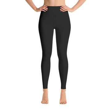Solid Black Yoga Leggings