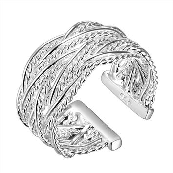 Small Weave Open Ring