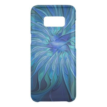 Blue Flower Fantasy Pattern, Abstract Fractal Art Get Uncommon Samsung Galaxy S8 Case
