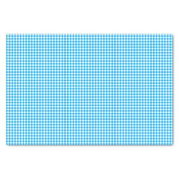 Gingham-Caribbean Blue-Tissue Wrapping Paper