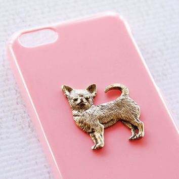 Chihuahua Apple iPhone 5C Trendy Chic Light Pink Cellphone Snap On Covering iPhone 6 Case