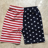 Red, White & Blue American Flag, July 4th Toddler Boys Shorts